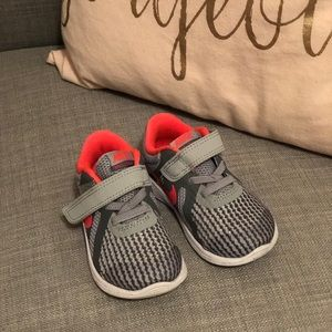 Grey and Pink Nike Revolution toddler 6 sneaker